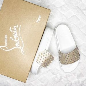 CHRISTIAN LOUBOUTIN Pool Fun Donna Spiked Slide